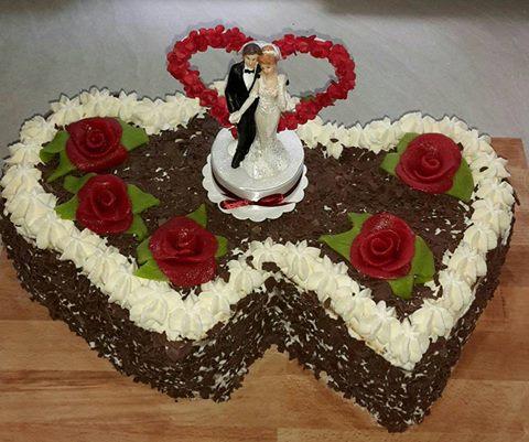 Dreas 3 Schicht Schoko Hochzeitstorte Schnullerfamilie Das